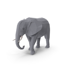 Low Poly Elephant.H03.2k.png