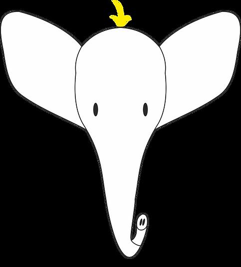 Blond Elephant Logo PNG