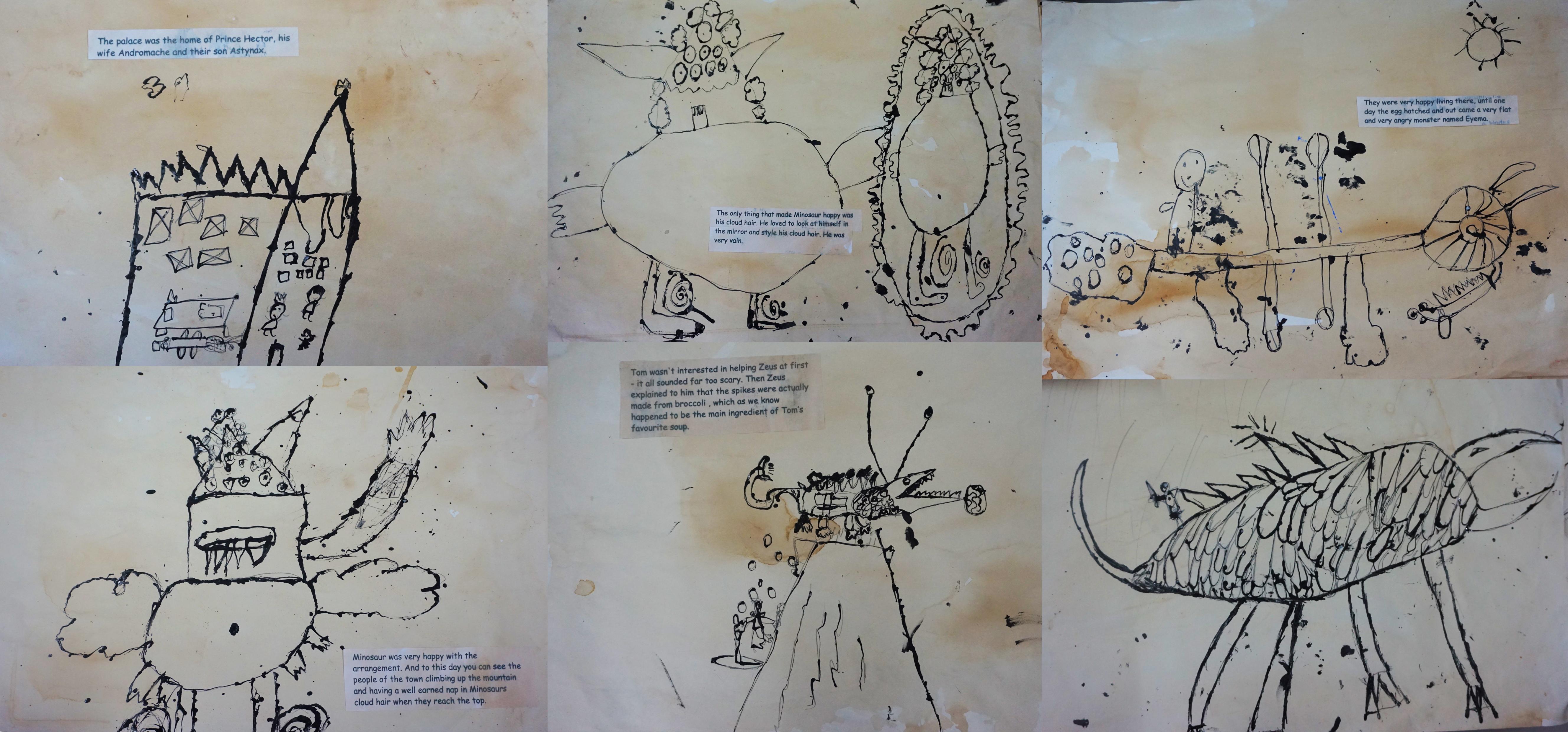 Mythical Greek Monster Illustrations
