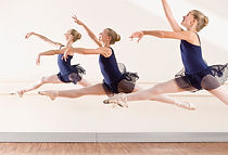 Ballet dancers leaping