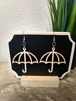 Singing in the Rain Birchwood Earrings