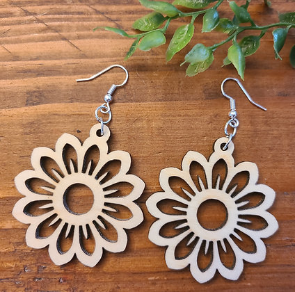 Sunflower - Birchwood Earrings