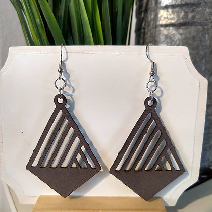 Leather Carved Earrings