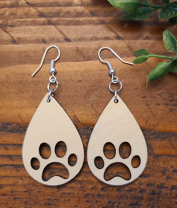 Paws - Birchwood Earrings