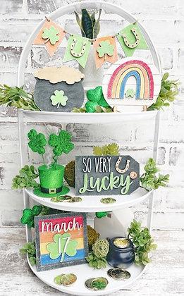 St. Patrick's Day Tiered Tray DIY kit