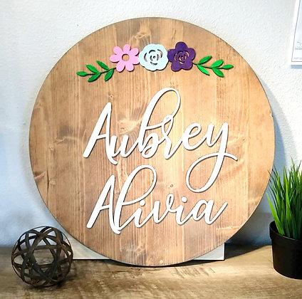 Custom Wood Engraved Sign