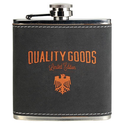 6 oz Textured Stainless Steel Flask
