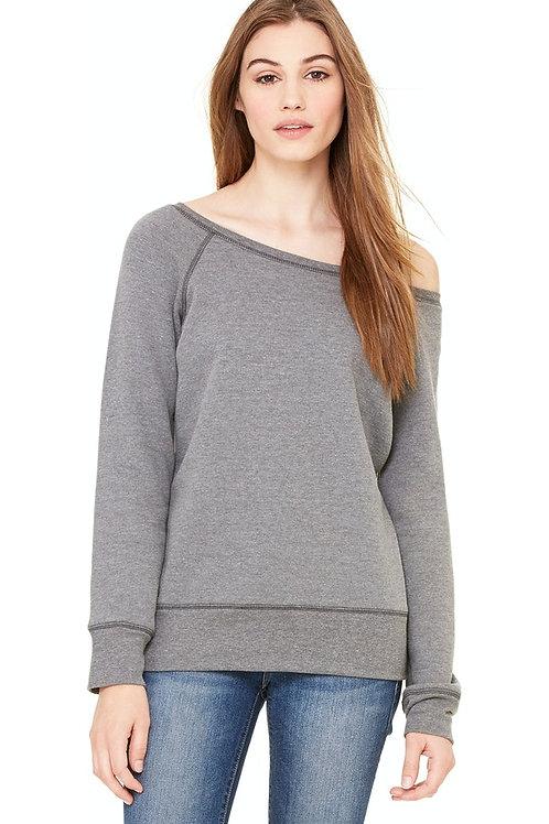 Fleece Wide Neck Sweatshirt