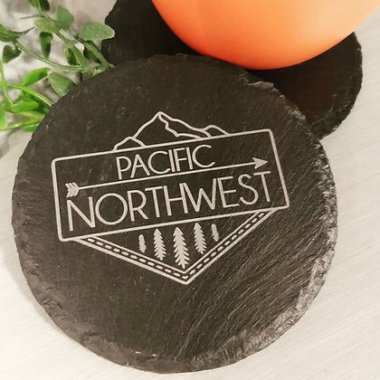 "4"" Slate ""Pacific Northwest"" Coasters"