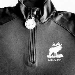 Mish Ink Screen Printing_Tekoa WA_Zip Up Sweatshirt Running Jacket_Seeds Ink_Front View_ed