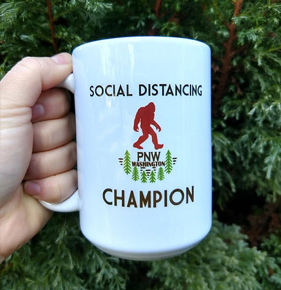 Social Distance Champion Coffee Mug