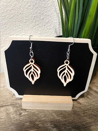 Leaf - Birchwood Earrings