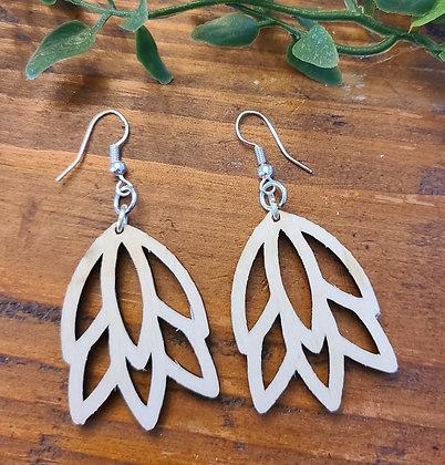 Madison Leaf - Birchwood Earrings