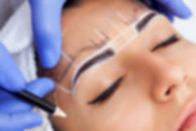 Image of woman gettig microblding treatment in Beverly Hills
