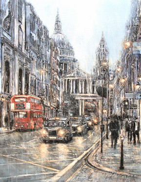 St Pauls in the rain II