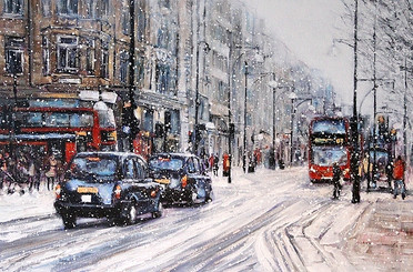 Snow on Oxford Street