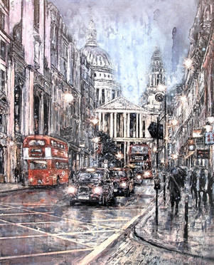 St Paul's in the rain I