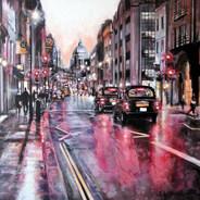 Summer rain on Fleet Street