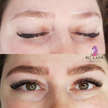 Brows shape & tint Eyelash Extensions London