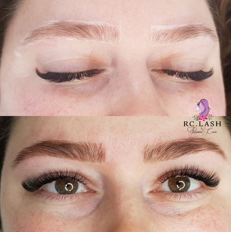 Brows shape & tint Eyelash Extensions London