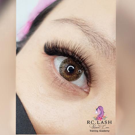 Natural Russian Volume Eyelash extensions London  RC.LASH Training Academy  Lashes & Brows London