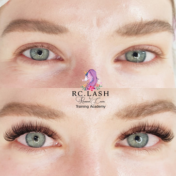 Natural Russian Volume Eyelash Extensions London| 70% coverage of the natural lashes| RC.LASH Training Academy