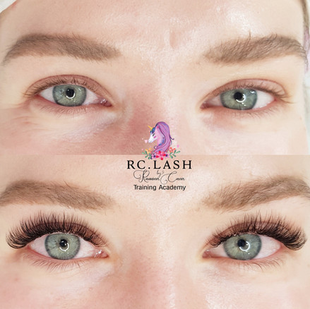 Natural Russian Volume Eyelash Extensions London  70% coverage of the natural lashes  RC.LASH Training Academy