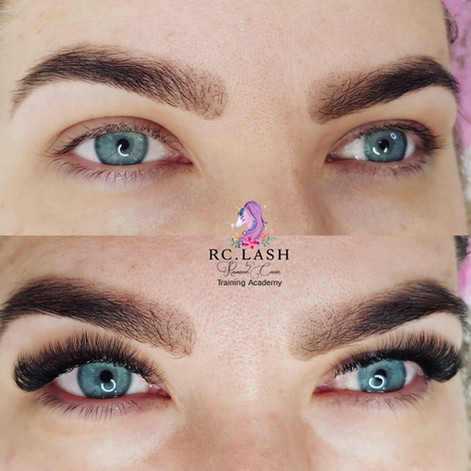 Russian Volume Eyelash Extensions Full set London 100% coverage of Natural Lashes  RC.LASH Training Academy   Lahhes & Brows London