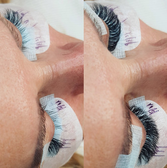 Before/ After Russian Volume Eyelash Extensions London