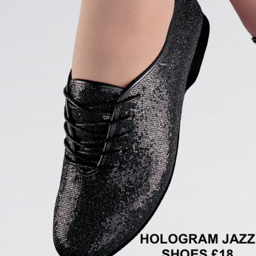HOLOGRAM BLACK JAZZ SHOES