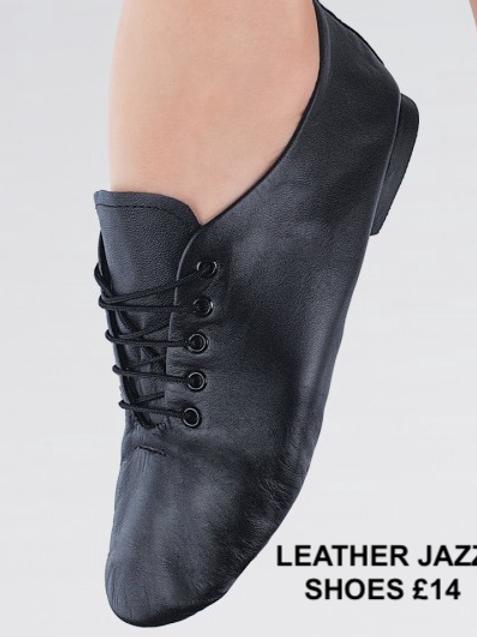 LEATHER  BLACK JAZZ SHOES