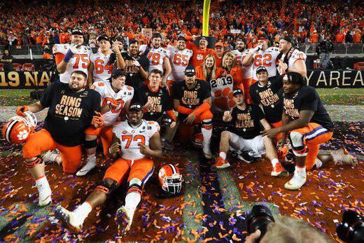 l'équipe universitaire  les Clemson tigers