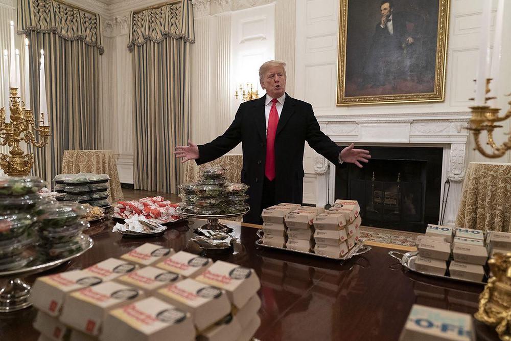 Mcdo à la Maison Blanche.