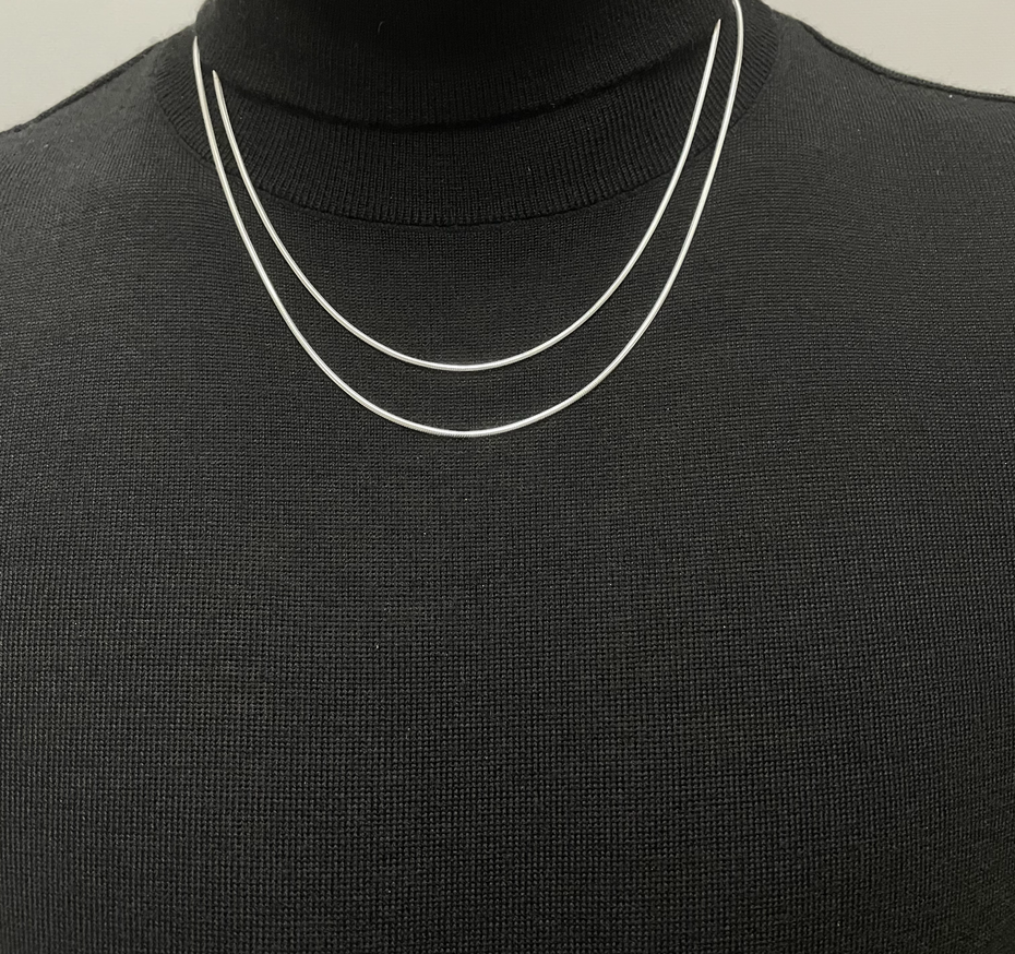 """20"""" and 22"""" Sterling Silver Snake Chain"""