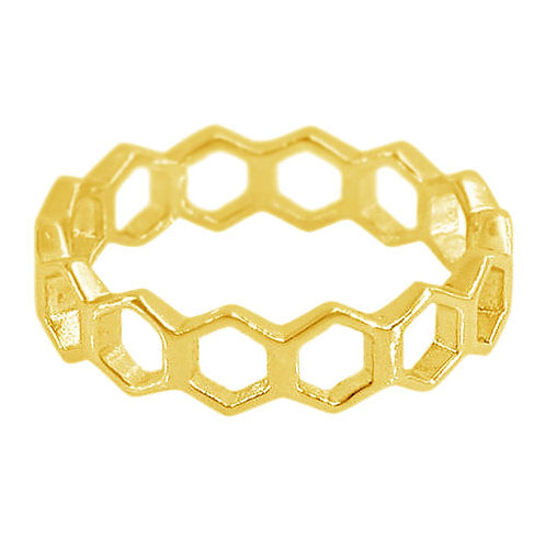 Hexagon (gold plated)