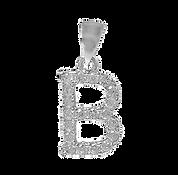 The Letter B Silver Pendant