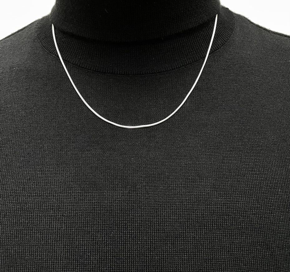 """22"""" Sterling Silver Snake Chain"""