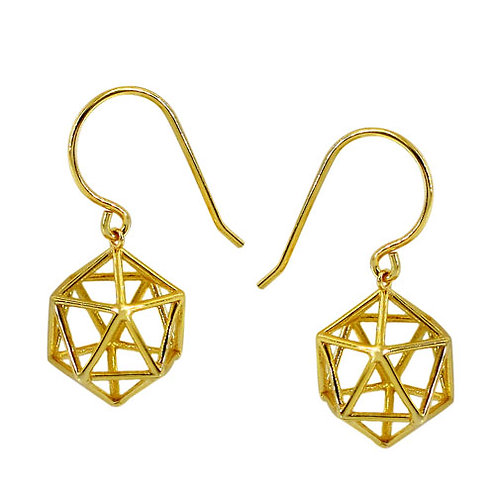 Geometric Cube (gold plated)