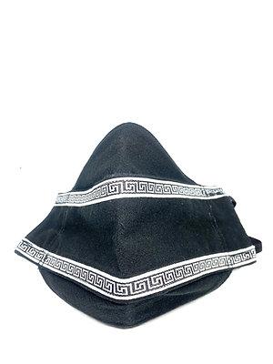 Black Greek Key Mask