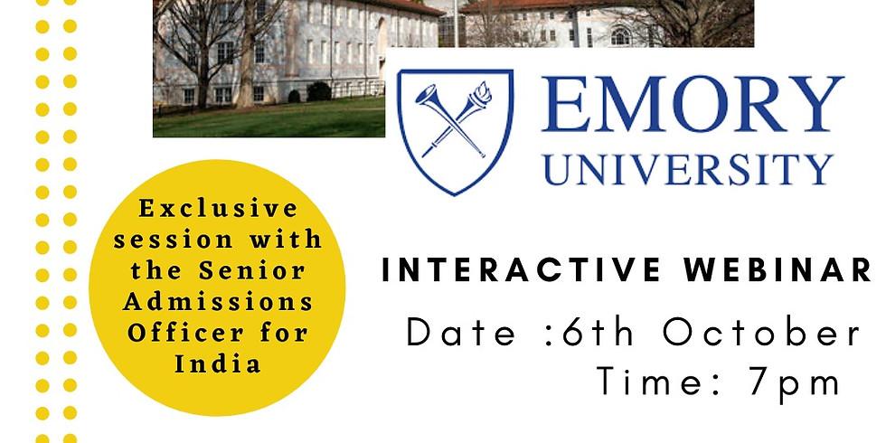 Interactive Webinar with Emory University