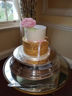 Sequin Peony cake