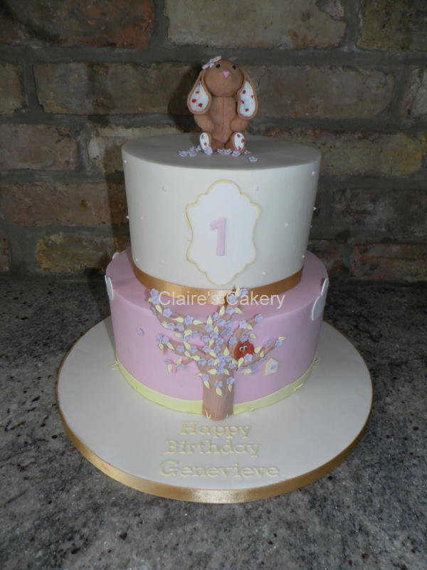 Rabbit First birthday cake