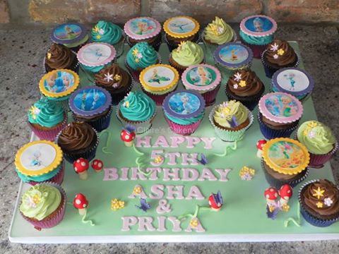 Tinkerbell and Periwinkle Cupcakes