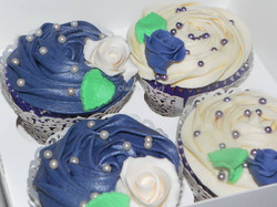 Purple and Ivory Wedding Cupcakes