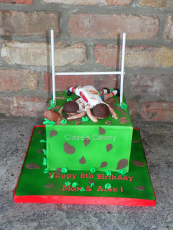 Rugby Tackle Cake