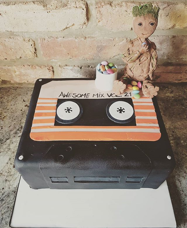 cassette tape groot cake