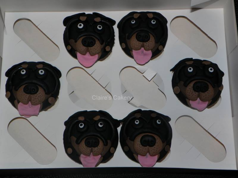 Rottweiler cupcakes