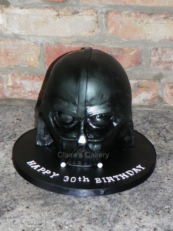 Darth Vader Helmet Cake
