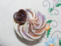 Vanilla and chocolate marble cupcake