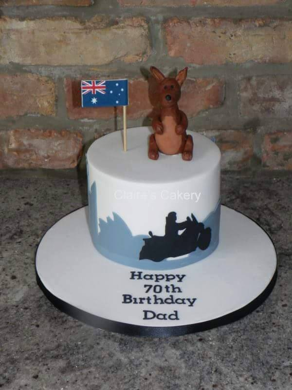 Australia travel cake